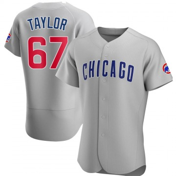 Men's Ben Taylor Chicago Cubs Authentic Gray Road Jersey