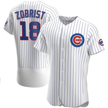 Men's Ben Zobrist Chicago Cubs Authentic White Home Jersey
