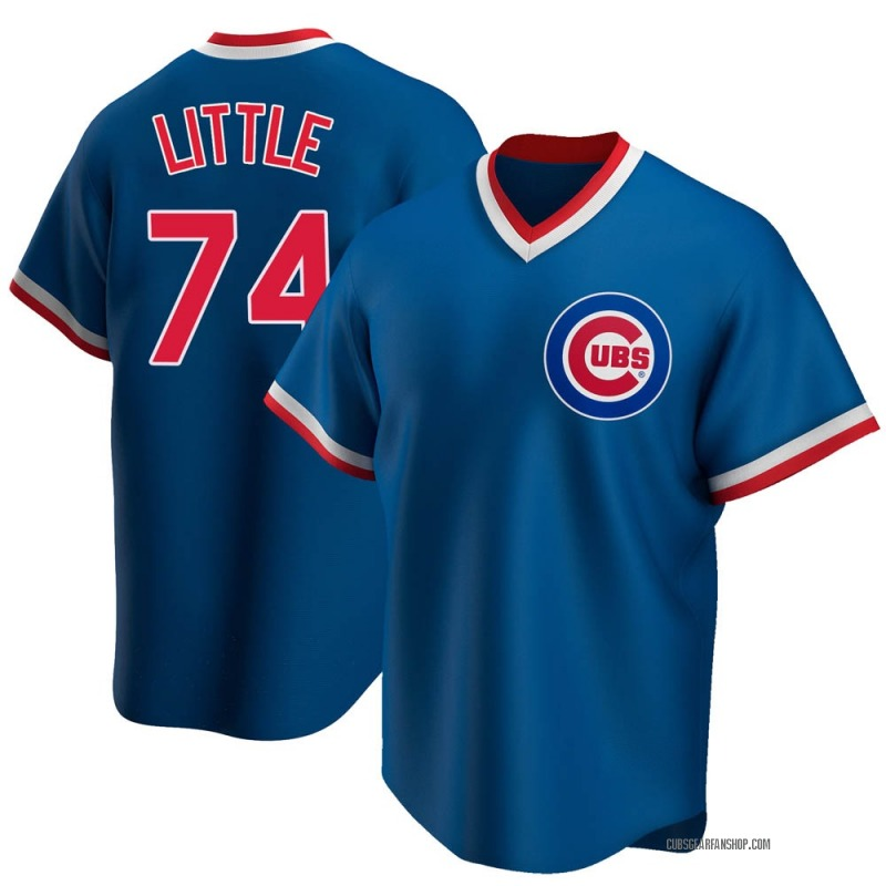 Men's Brendon Little Chicago Cubs Replica Royal Road Cooperstown Collection Jersey