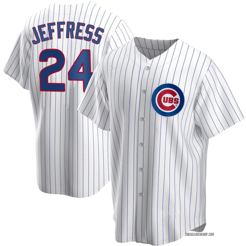Men's Jeremy Jeffress Chicago Cubs Replica White Home Jersey