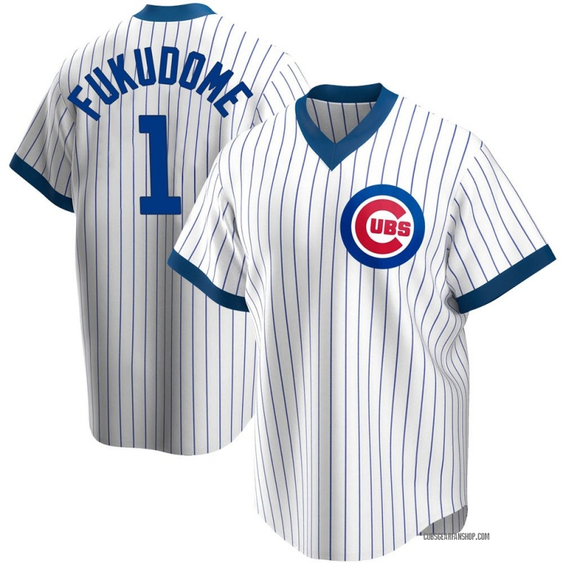 Men's Kosuke Fukudome Chicago Cubs Replica White Home Cooperstown Collection Jersey