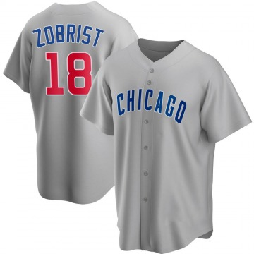Youth Ben Zobrist Chicago Cubs Replica Gray Road Jersey