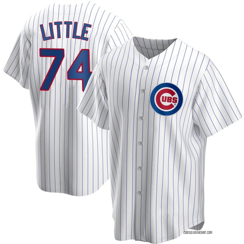 Youth Brendon Little Chicago Cubs Replica White Home Jersey