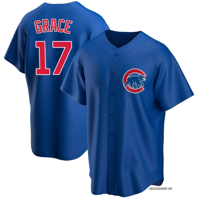 Youth Mark Grace Chicago Cubs Replica Royal Alternate Jersey