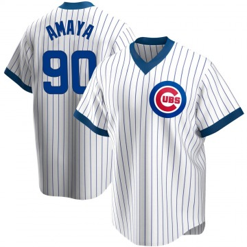 Youth Miguel Amaya Chicago Cubs Replica White Home Cooperstown Collection Jersey