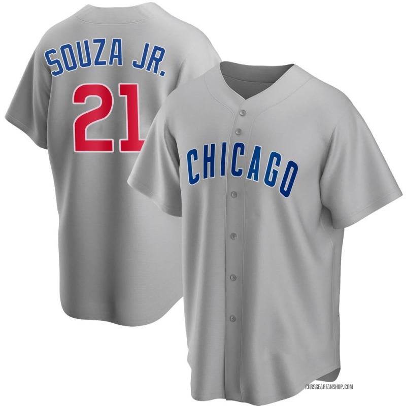 Youth Steven Souza Jr. Chicago Cubs Replica Gray Road Jersey