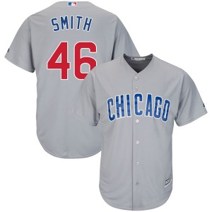 Men's Majestic Lee Smith Chicago Cubs Authentic Gray Cool Base Road Jersey