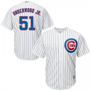 Men's Majestic Duane Underwood Jr. Chicago Cubs Replica White Cool Base Home Jersey