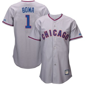 Youth Majestic Larry Bowa Chicago Cubs Replica Gray Cool Base Cooperstown Collection Jersey