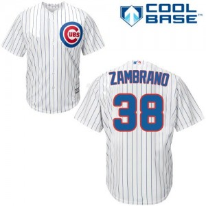 Men's Majestic Carlos Zambrano Chicago Cubs Authentic White Home Cool Base Jersey