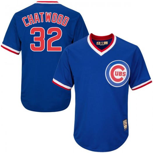 Men's Majestic Tyler Chatwood Chicago Cubs Replica Royal Blue Cool Base Cooperstown Collection Jersey
