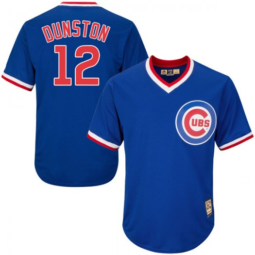 Men's Majestic Shawon Dunston Chicago Cubs Replica Royal Blue Cool Base Cooperstown Collection Jersey