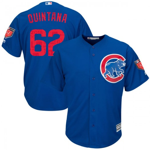 Men's Majestic Jose Quintana Chicago Cubs Player Replica Royal Cool Base 2018 Spring Training Jersey