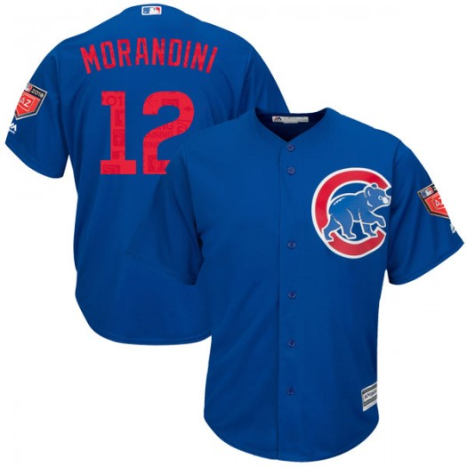 Youth Majestic Mickey Morandini Chicago Cubs Authentic Royal Cool Base 2018 Spring Training Jersey