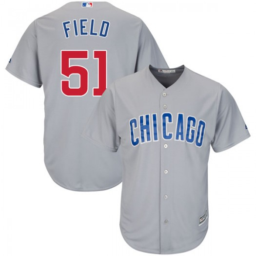 Men's Majestic Johnny Field Chicago Cubs Replica Gray Cool Base Road Jersey