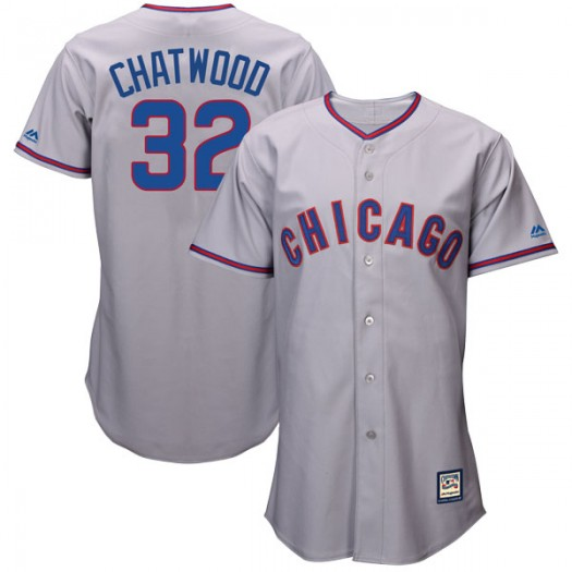 Youth Majestic Tyler Chatwood Chicago Cubs Replica Gray Cool Base Cooperstown Collection Jersey