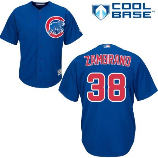 Men's Majestic Carlos Zambrano Chicago Cubs Authentic Royal Blue Alternate Cool Base Jersey