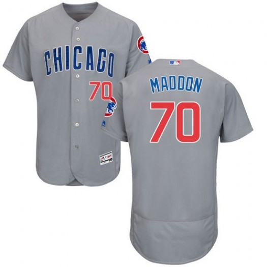 Men's Majestic Joe Maddon Chicago Cubs Player Authentic Grey Flexbase Collection Jersey