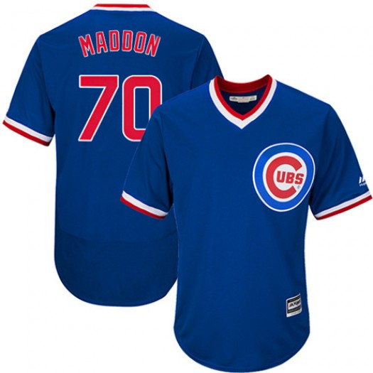Men's Majestic Joe Maddon Chicago Cubs Player Authentic Royal Blue Flexbase Collection Cooperstown Jersey