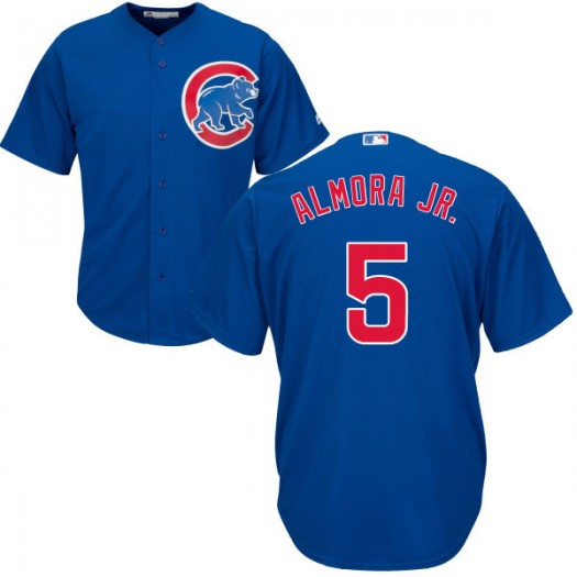 Youth Majestic Albert Almora Jr. Chicago Cubs Player Replica Royal Cool Base Jersey